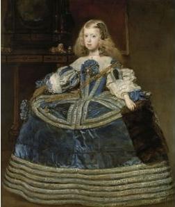 La Infanta Margarita (1651-1673) con vestido azul