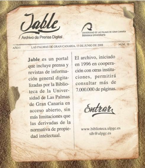 JABLE. Archivo de prensa digital