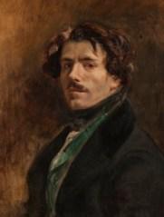 Eugene Delacroix. Autoretrat amb armilla verda, 1837. Musée du Louvre
